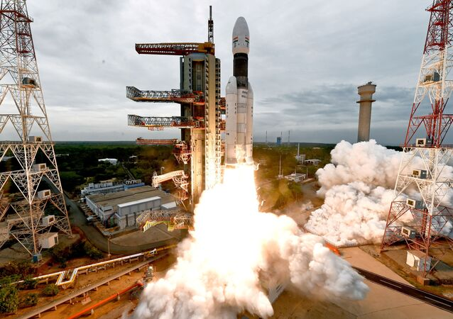 India's Geosynchronous Satellite Launch Vehicle Mk III-M1 blasts off carrying Chandrayaan-2 from the Satish Dhawan space centre at Sriharikota, India, July 22, 2019