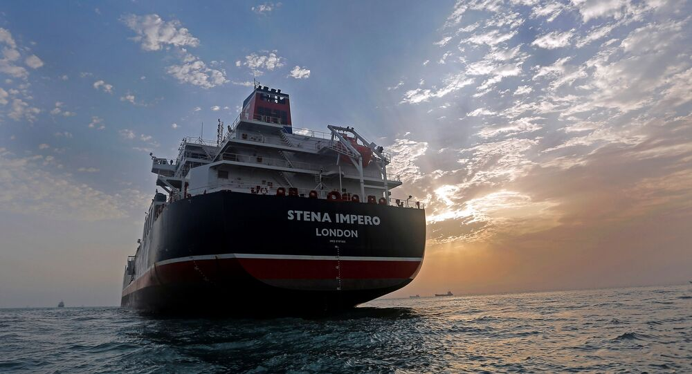 Stena Impero, a British-flagged vessel owned by Stena Bulk, is seen at Bandar Abbas port, July 21, 2019.