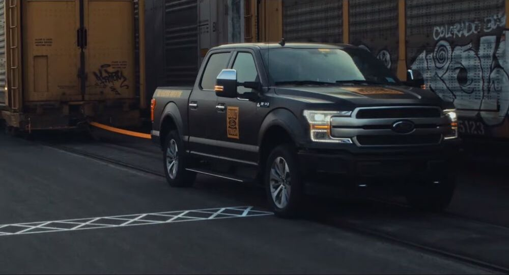 All-Electric F-150 Prototype: Tows 1M+ Pounds