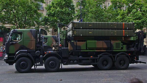 SAMP-T Mamba (Aster 30) mounted on a transporter erector launcher vehicle - Sputnik International
