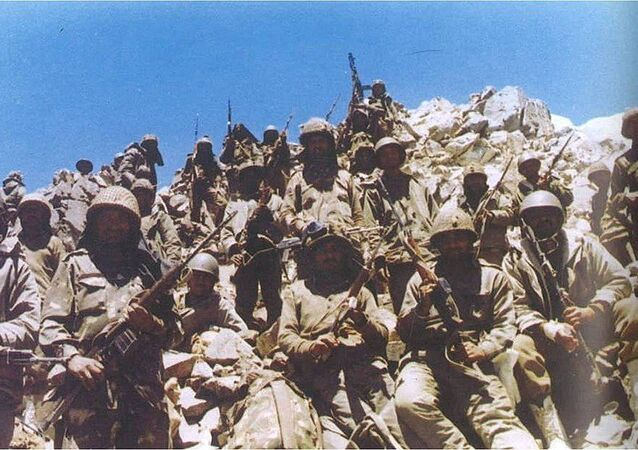 Indian soldiers in Batalik during the Kargil War