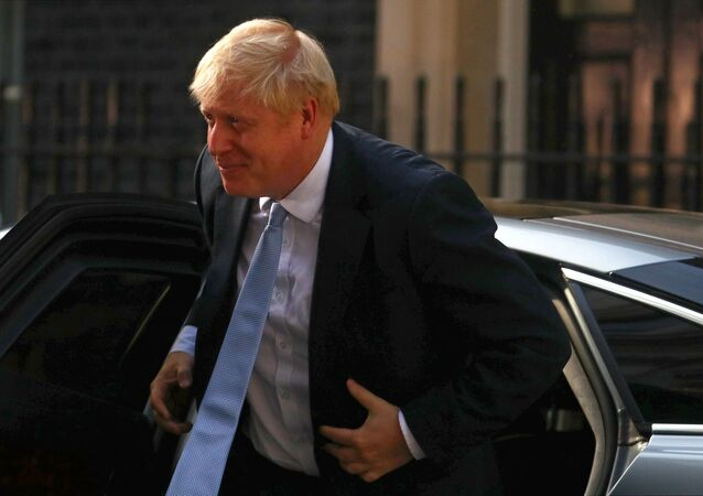 Britain's Prime Minister Boris Johnson arrives at Downing Street, in London, Britain July 24, 2019