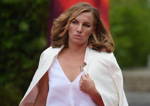 Tennis player Svetlana Kuznetsova at the pre-party of the Zhara International Music Festival in Moscow