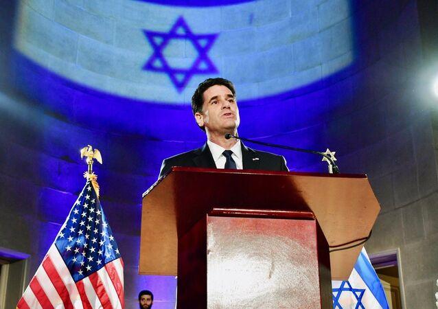 US Ambassador to Israel Ron Dermer delivers remarks at the Israeli Embassy's Independence Day Celebration