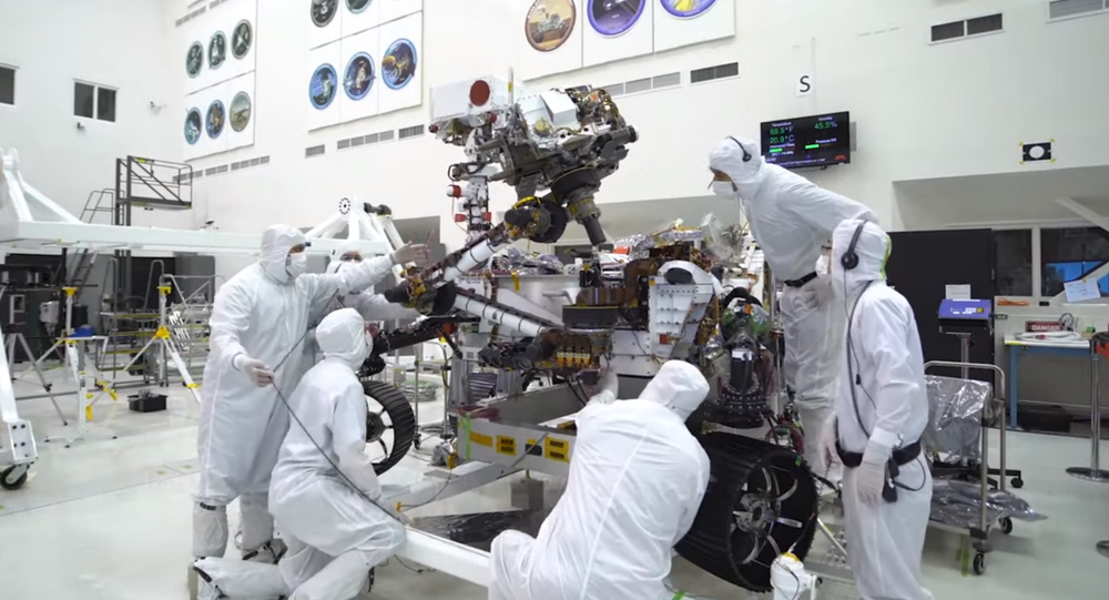 NASA's Mars 2020 Rover is seen going biceps curls in newly released timelapse video
