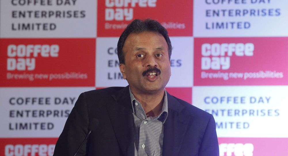 V.G. Siddhartha, chairman of Coffee Day Enterprises Ltd, speaks during a news conference in Mumbai, India, October 7, 2015