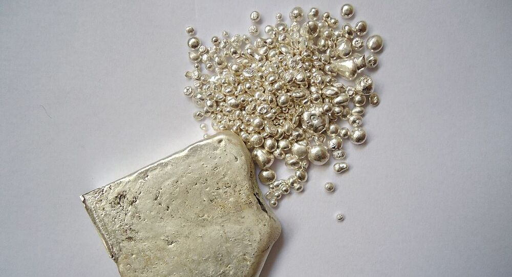 Silver ingot and granules