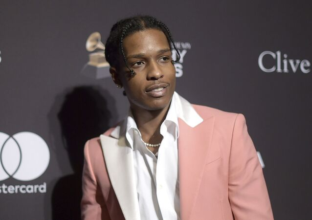 This Feb. 9, 2019 file photo shows A$AP Rocky at Pre-Grammy Gala And Salute To Industry Icons in Beverly Hills, Calif. The American rapper, whose name is Rakim Mayers, was ordered held by a Swedish court Friday, July 5, for two weeks in pre-trial detention while police investigate a fight on Sunday in central Stockholm
