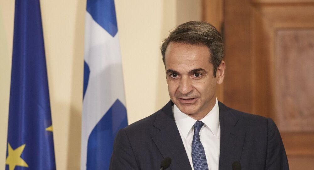 Greece's Prime Minister Kyriakos Mitsotakis