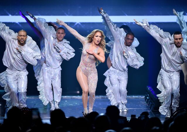 NEW YORK, NEW YORK - JULY 12: Jennifer Lopez performs onstage during the It's My Party Tour at Madison Square Garden on July 12, 2019 in New York City.