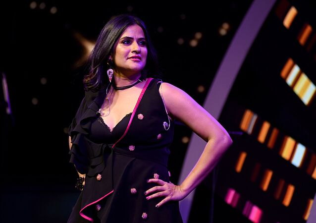 Indian Bollywood music composer and singer Sona Mohapatra attends a press conference for the musical reality show Sa Re Ga Ma Pa in Mumbai on October 31, 2018