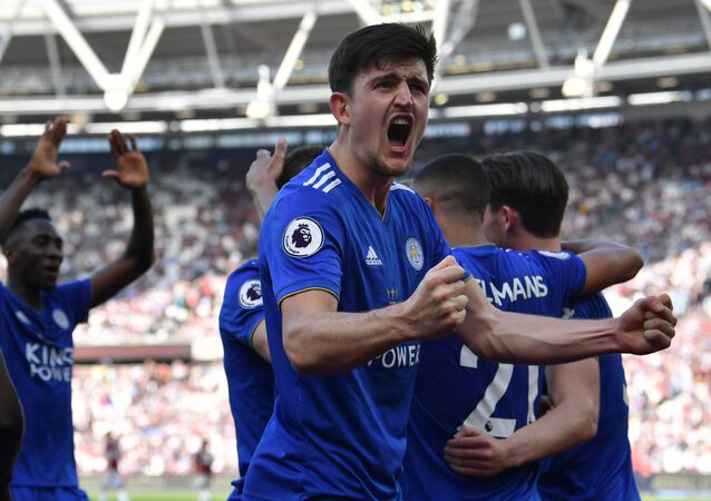 Leicester City defender Harry Maguire - who is set to join Manchester United in August 2019