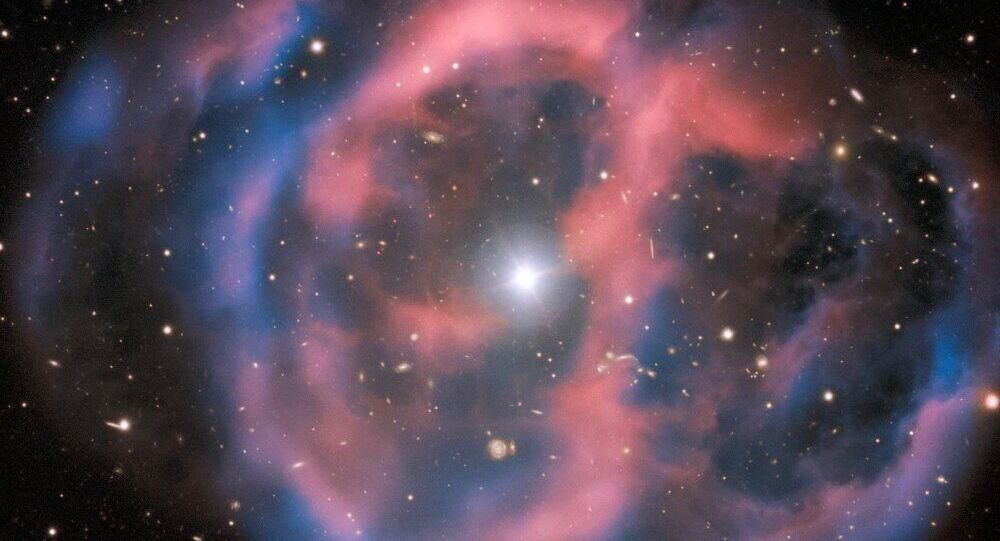 The nebula remains of a dead giant star surround the remaining subdwarf O star, another kind of hot subdwarf.