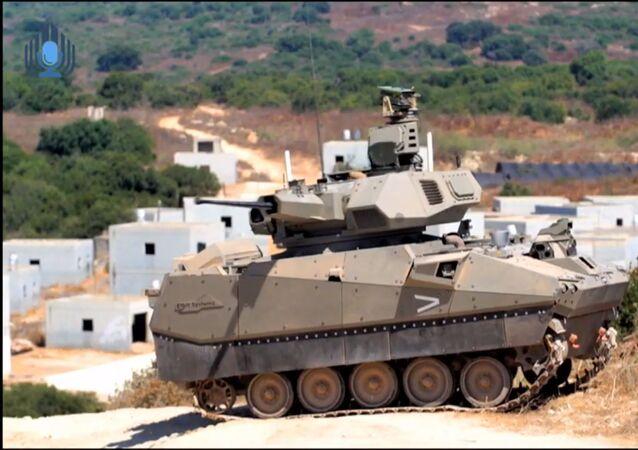 Elbit prototype tank for Carmel armoured fighting vehicle (AFV) project