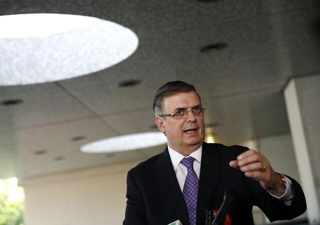 Mexico's Foreign Secretary Marcelo Ebrard