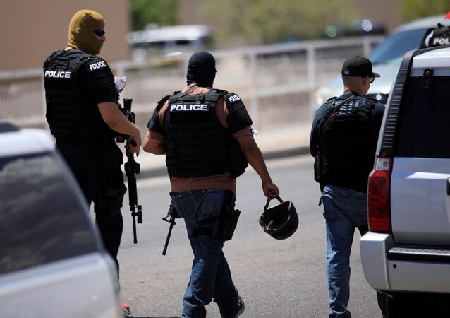 Police arrive after a mass shooting at a Walmart in El Paso, Texas, U.S. August 3, 2019