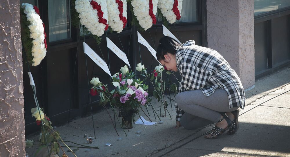 A memorial to shooting victims in the Oregon District following on August 05, 2019 in Dayton, Ohio.