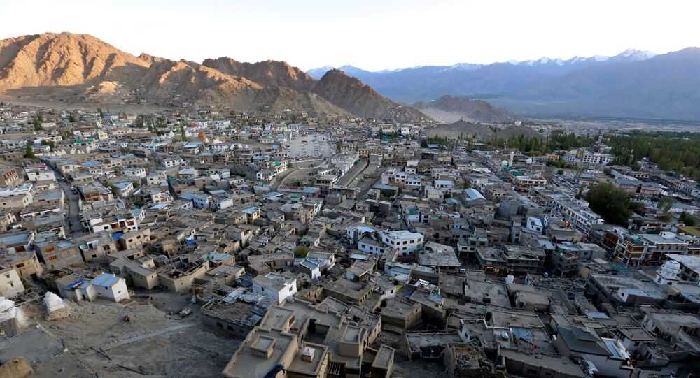 The sun sets in Leh, the largest town in the region of Ladakh, nestled high in the Indian Himalayas (File)