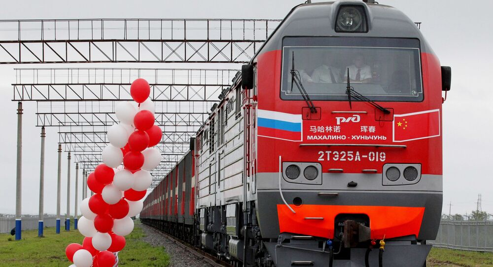 Ceremony celebrating the opening of a new border crossing between China and Russia. File photo.