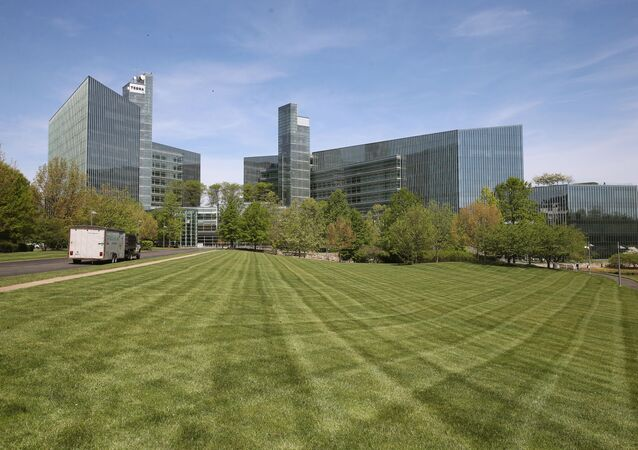 In this file photo taken on April 25, 2016 , The Gannett Co Inc, headquarters is shown in McLean, Virginia.