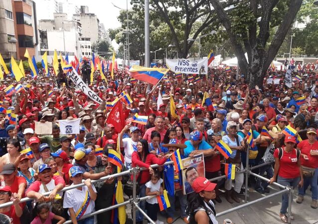 Pro-Maduro protest in Caracas against US sanctions