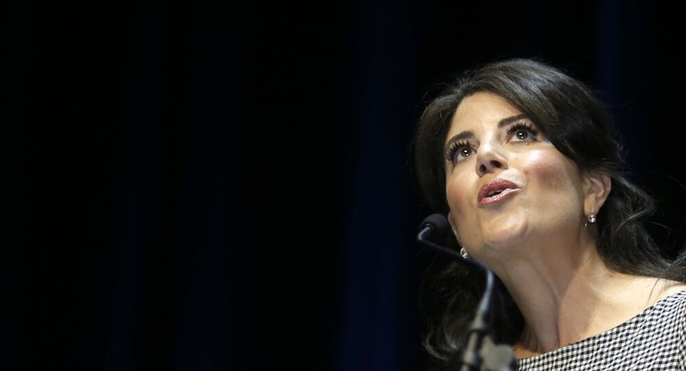 US former White house intern Monica Lewinsky attends at the Cannes Lions 2015, International Advertising Festival in Cannes, southern France, Thursday, June 25, 2015