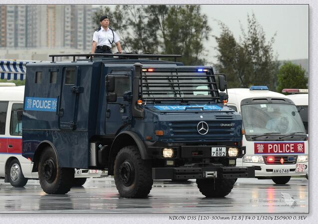 Mercedes-Benz Unimog U5000 armoured personnel carriern with special-designed for armed forces' 4WD system (made by France) / Ray Li, Facebook