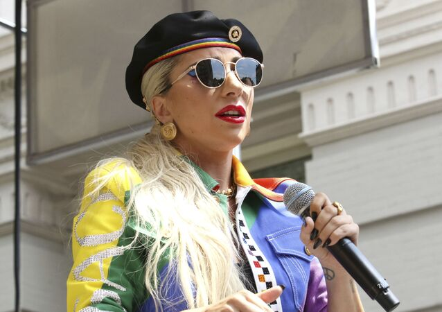 Lady Gaga participates in the second annual Stonewall Day honoring the 50th anniversary of the Stonewall riots, hosted by Pride Live and iHeartMedia, in Greenwich Village on Friday, June 28, 2019, in New York