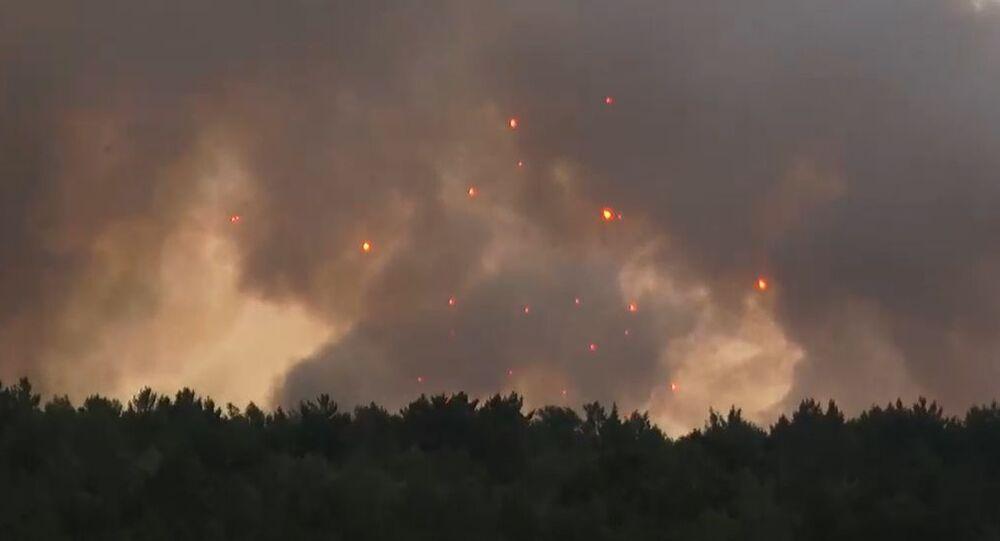 Blast at Ammo Depot in Achinsk, Russia