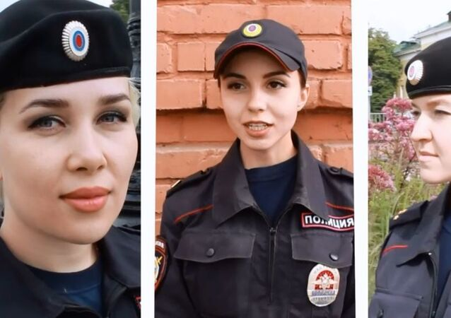 Russian police beauties