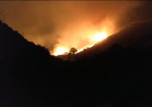 Canary Islands fire