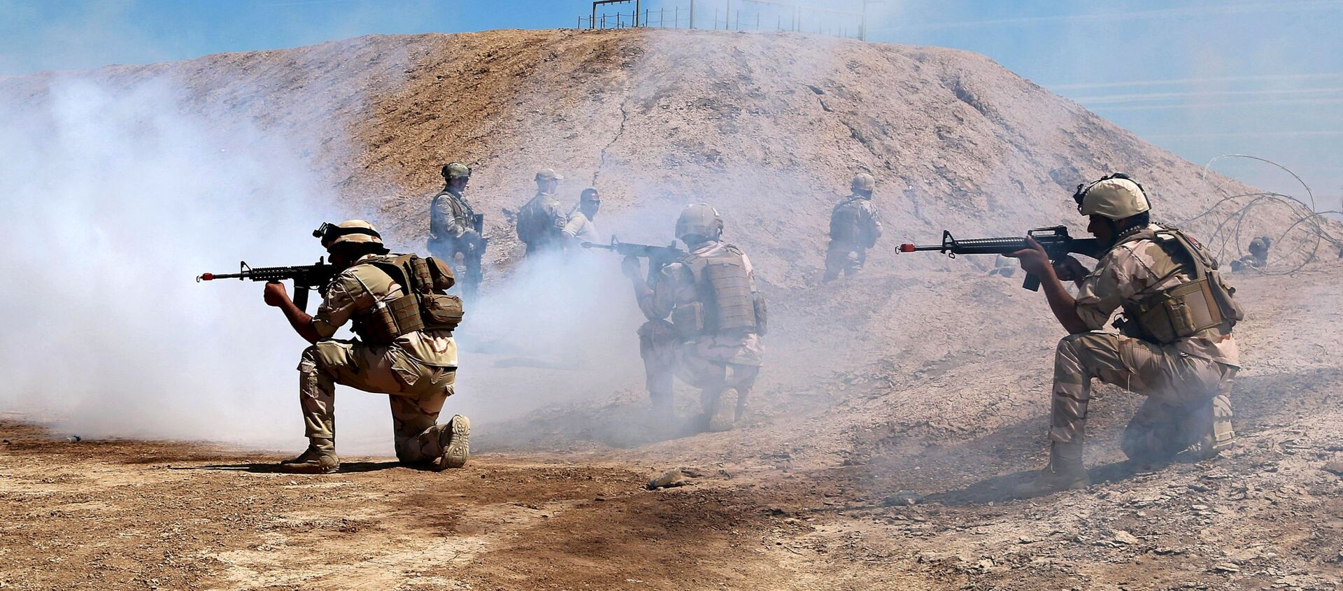 Australian and New Zealand coalition forces participate in a training mission with Iraqi army soldiers at Taji Base, north of Baghdad, Iraq, Wednesday, April 17, 2019. - Sputnik International, 1920, 21.02.2021