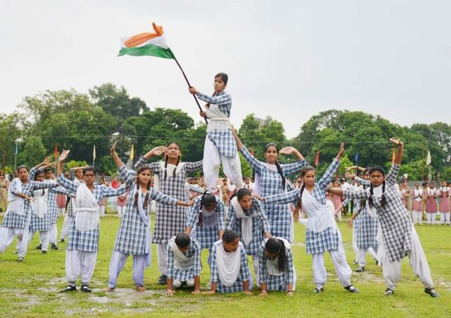 Rehearsal of the independence parade, Kashmir