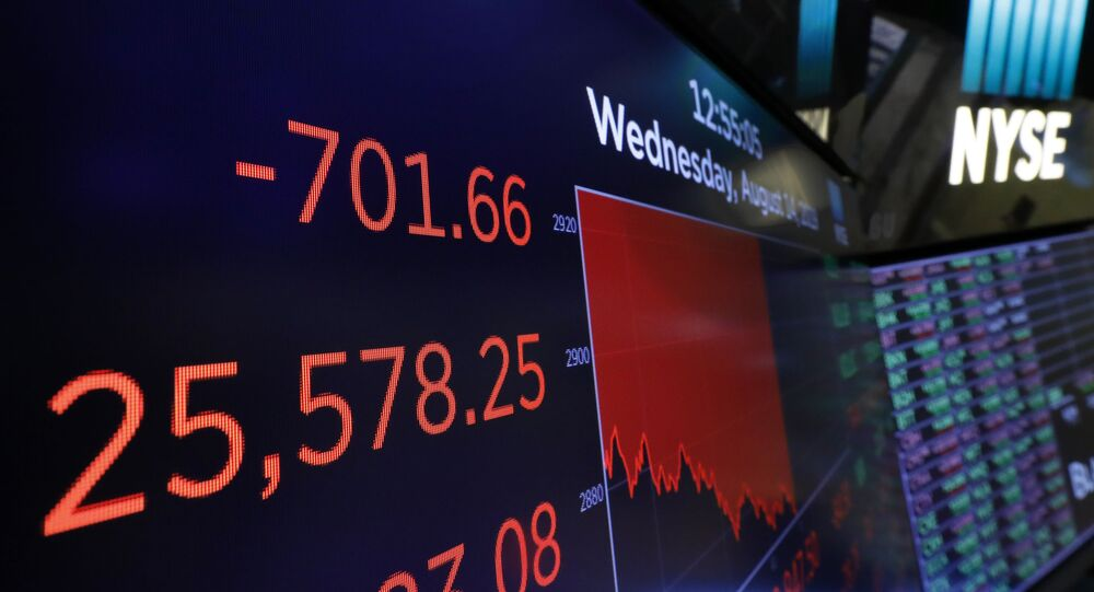 Stocks open sharply lower; Dow 10% below recent record high