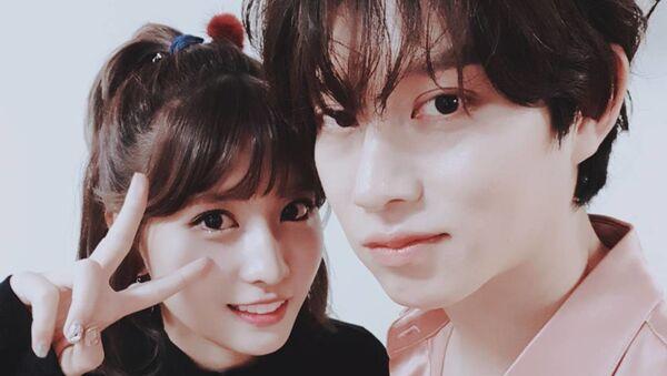 Kim Heechul and Momo - Sputnik International