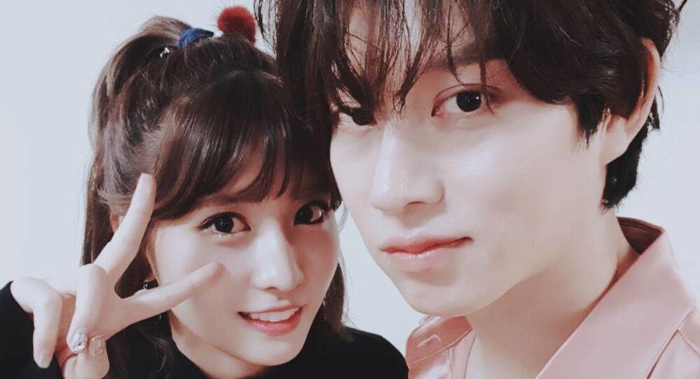 Kim Heechul and Momo