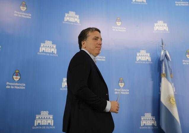 Argentina's Treasury Minister Nicolas Dujovne