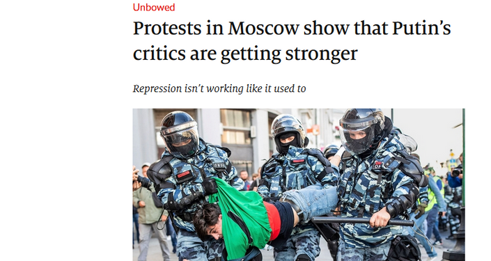 The Economist: Protests in Moscow show that Putin's critics are getting stronger