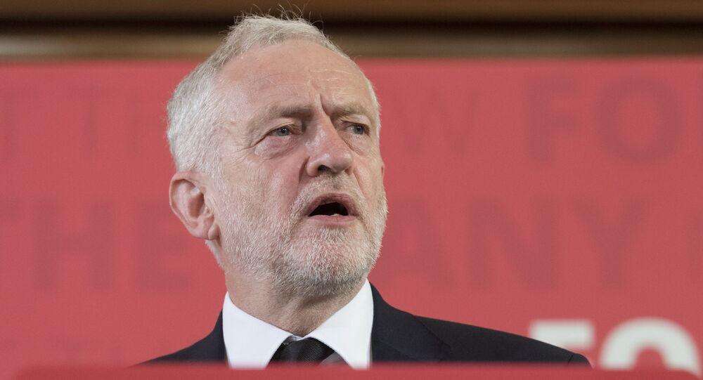 Пресс-конференция лидера лейбористской партии Великобритании Дж. Корбина