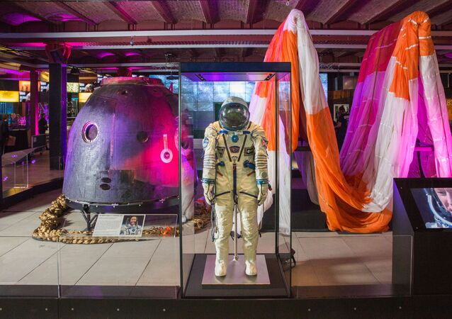 Tim Peake's Spacecraft and spacesuit at Science and Industry Museum, Manchester