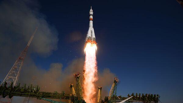 Launch of Soyuz-2.1a rocket carrier with Soyuz MS-14 spacecraft from the Baikonur spaceport   - Sputnik International