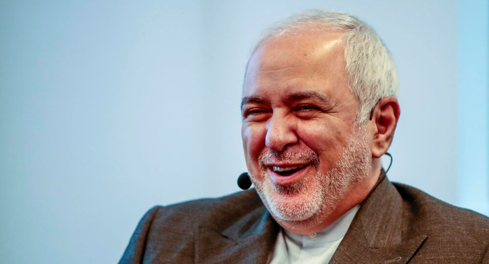 Iran's Foreign Minister Javad Zarif attends a seminar at Norwegian Institute of International Affairs (NUPI) in Oslo, Norway