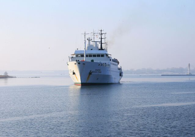 The research vessel Academician Nikolai Strakhov returns to the home port