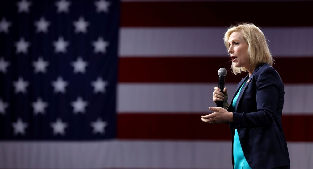 2020 Democratic U.S. presidential candidate and U.S. Senator Kirsten Gillibrand speaks during the Presidential Gun Sense Forum in Des Moines, Iowa, U.S., August 10, 2019.