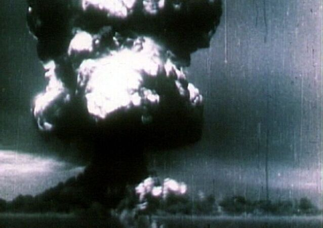 1949: Soviet Union's first nuclear bomb test