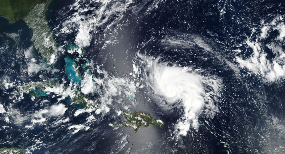 Hurricane Dorian approaches the coast of Florida, U.S. in this August 29, 2019 NASA handout satellite image.