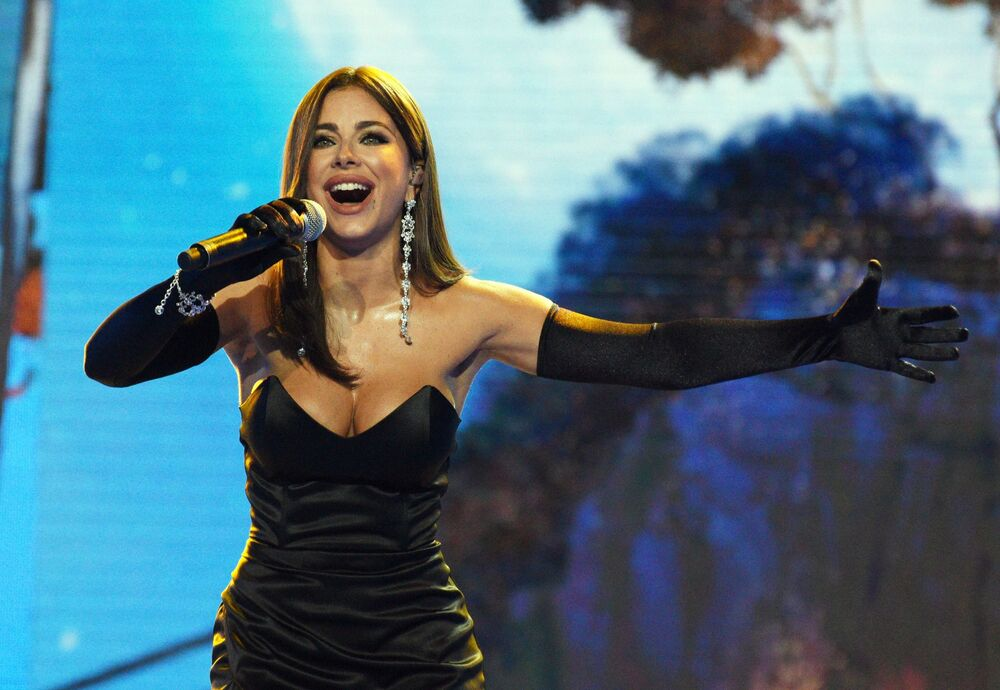 Singer Ani Lorak performs during the New Wave-2019 international song contest in Sochi.