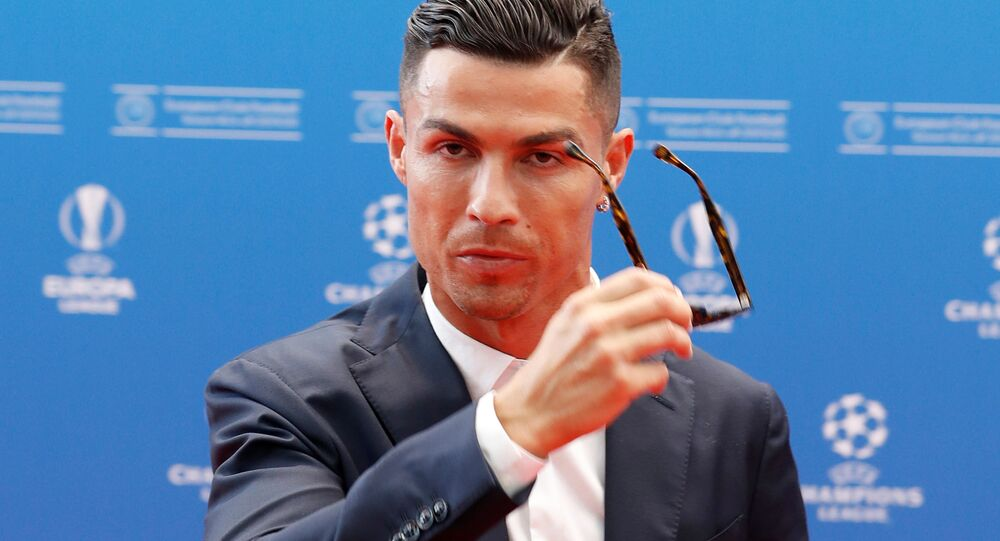 Juventus' Cristiano Ronaldo before the Champions League group stage draw at Grimaldi Forum, Monaco on August 29, 2019.
