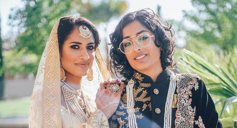 India-Pakistan lesbian couple marry in California