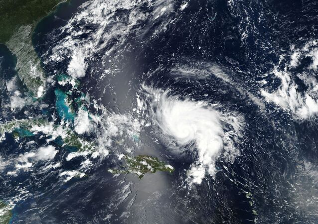 Hurricane Dorian approaches the coast of Florida, U.S. in this August 29, 2019 NASA handout satellite image.  NASA/Handout via REUTERS ATTENTION EDITORS - THIS IMAGE WAS PROVIDED BY A THIRD PARTY.